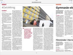 17. April 2018: Debatindlæg i Helsingør Dagblad