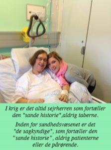 Min afdøde kone Hanne, samt vores datter Mie.